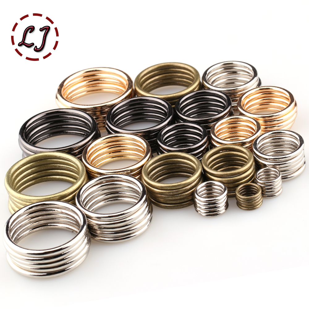 Wholesale 20pcs/lot 20mm/25mm/30mm/35mm Black Bronze Gold Silver Circle Ring Connection Alloy Metal Shoes Bags Belt Buckles DIY