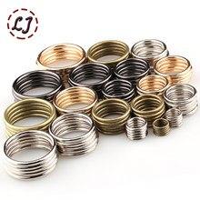 a6e389c578e24b Commercio all ingrosso di 20 pz lotto 20mm 25mm 30mm 35mm bronzo nero oro  argento cerchio anello scarpe borse Cinghia del metall.