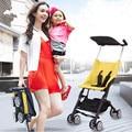 Ultra-Pequeño de Bolsillo Niños Cochecito Cochecito de niño para Los Niños de 7 meses a 3 Años Súper Portátil Cochecito Plegable Paraguas