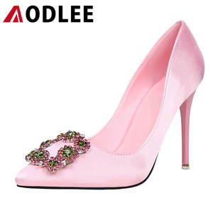 AODLEE Women Shoes Pointed Toe Pumps Patent Leather Shoes Woman Dress High Heels Women Shoes Sexy Wedding Shoes Zapatos Mujer