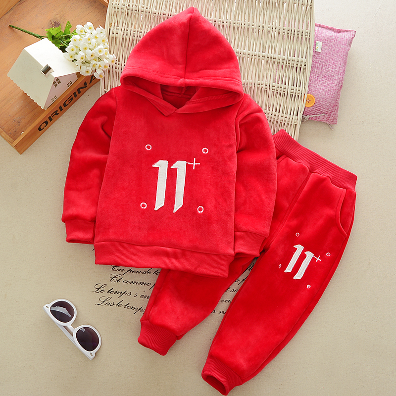 baby girl autumn clothes infant clothing baby red hooded coat velvet fabric outerwear girls long pants kids winter trousers