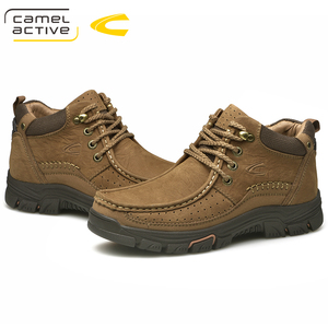 Image 2 - Camel Active New Super Warm Men Winter Boots for Men Warm Waterproof Cow Leather Boots Shoes 2018 New Mens Ankle Snow Boos
