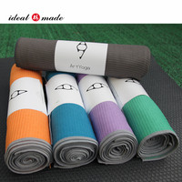 Wholesale Good Quality plain color extra soft waffle weave yoga blanket lightweight to carry