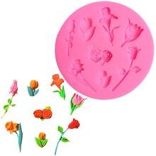 Flower Silicone Mold Fondant Torten Dekoration Werkzeuge Moldes De Silicona Para Manualidades 3d Jabon Sugaring Paste