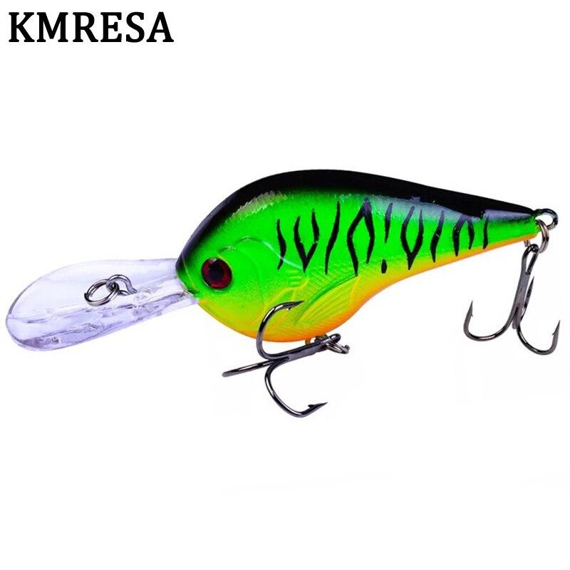 1pcs Crankbait Fishing 9.5cm 10g Minnow Wobbler Artificial Crank Bait Bass Fishing Lure Pike Trolling Pesca Carp Fishing Tackle
