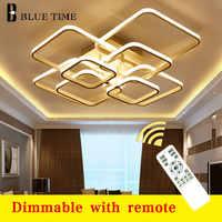 Современные светодиодные люстры с большими кольцами для гостиной, спальни, столовой, алюминиевая люстра с корпусом, потолочные светильники