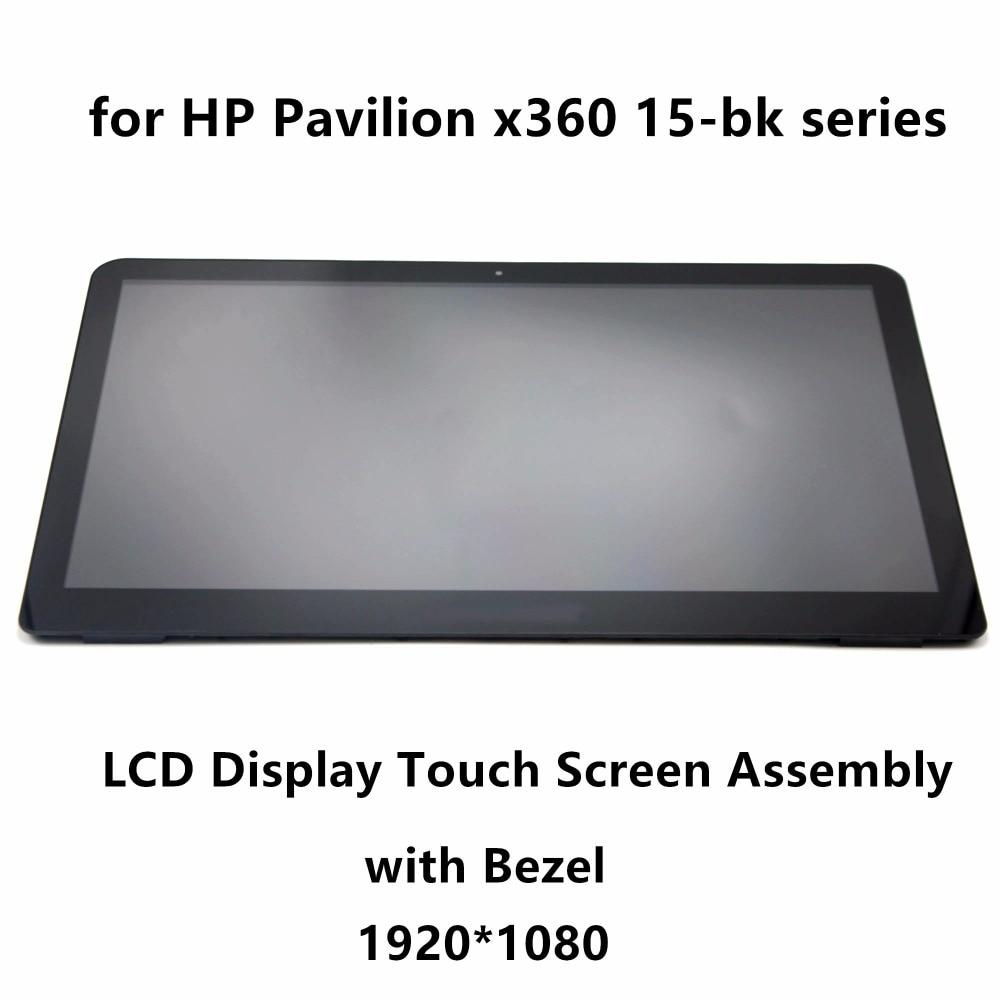 15.6''For HP Pavilion x360 15-bk020wm 15bk062sa 15-bk010nr 15-bk193ms FHD Laptop Touch Glass Digitizer LCD Screen Assembly Bezel цена и фото