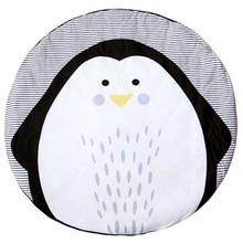 Hewan bayi selimut bayi yang baru lahir bermain tikar bayi lembut tikar tidur kapas penguin selimut dekorasi kamar anak-anak A79
