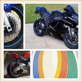 Strips Motorcycle Wheel Sticker Reflective Decals Rim Tape Bike Car Styling For Ducati 1198 S Ducati 800SS 800 Supersport image