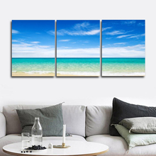 Laeacco Wall Art 3 Panel Seaside Posters and Prints Vintage Canvas Painting Home Decor Picture Living Room Decoration