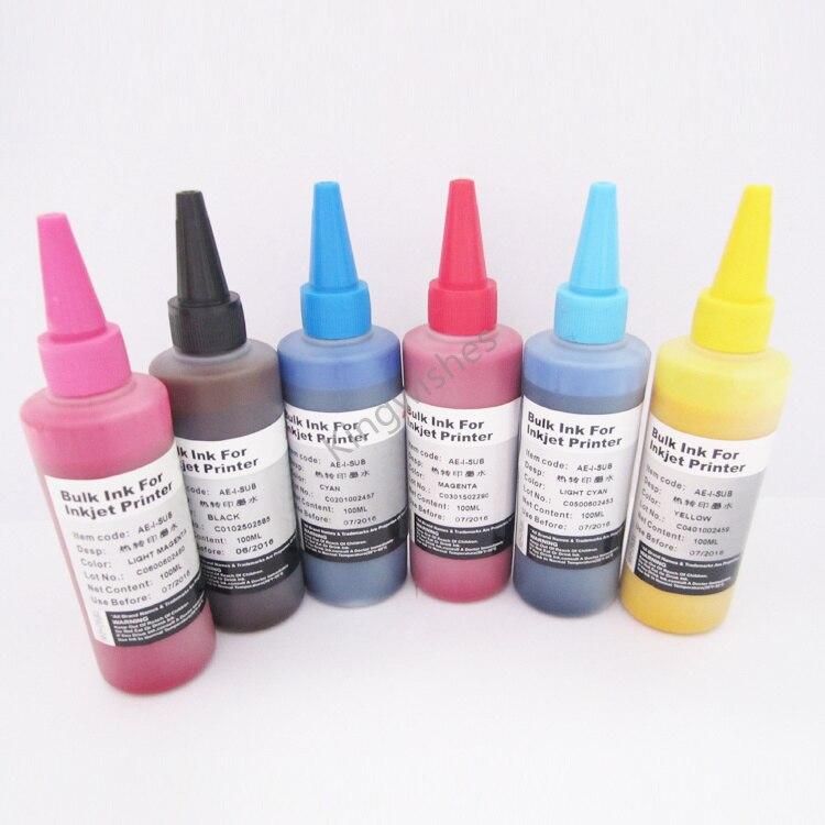 ФОТО Low Price 82N 100ML x 6PCS Sublimation Ink For Epson T59 Desktop Inkjet Printer