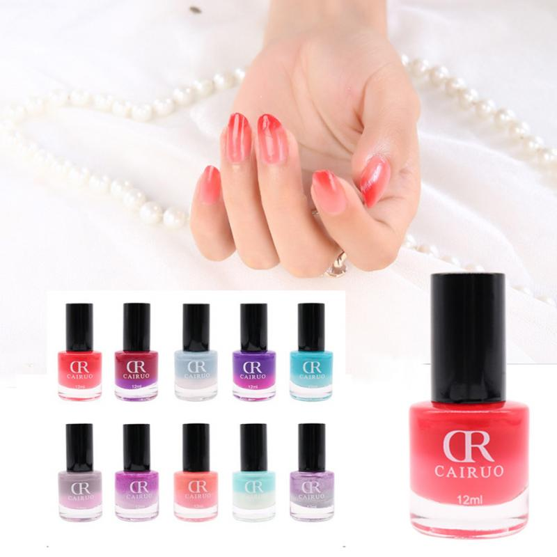CR CAIRUO 12ml Temperature Change Gel Nail Polish Color Changing Control Nail Art Nontoxic Nail Oil