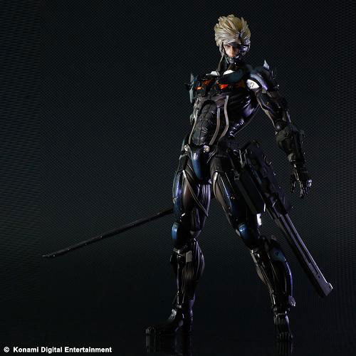 Play Arts 28cm Metal Gear Rising: Revengeance Raiden Action Figures PVC brinquedos Toys