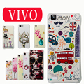 New For vivo X5L X6  X6plus Xplay5 case Colorful Printing Drawing flower Silicone soft shell Cover for oppo Fashion Phone Cases