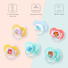 Baby Nipple Food Grade Silicone BPA Free Newborn Clip Soother Pacifier Infant Orthodontic Dummy Teether