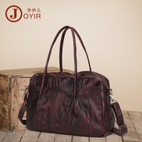 Joyir 100% Genuine Leather Men shoulder bag Brand Designed men's bags large capacity casual travel Men Handbag Shoulder Bag