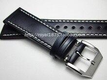 Ручной работы темно-синий 20 21 22 мм Мужские часы из натуральной кожи ремешок высокого качества браслет ремень для Омега/Зенит/IWC