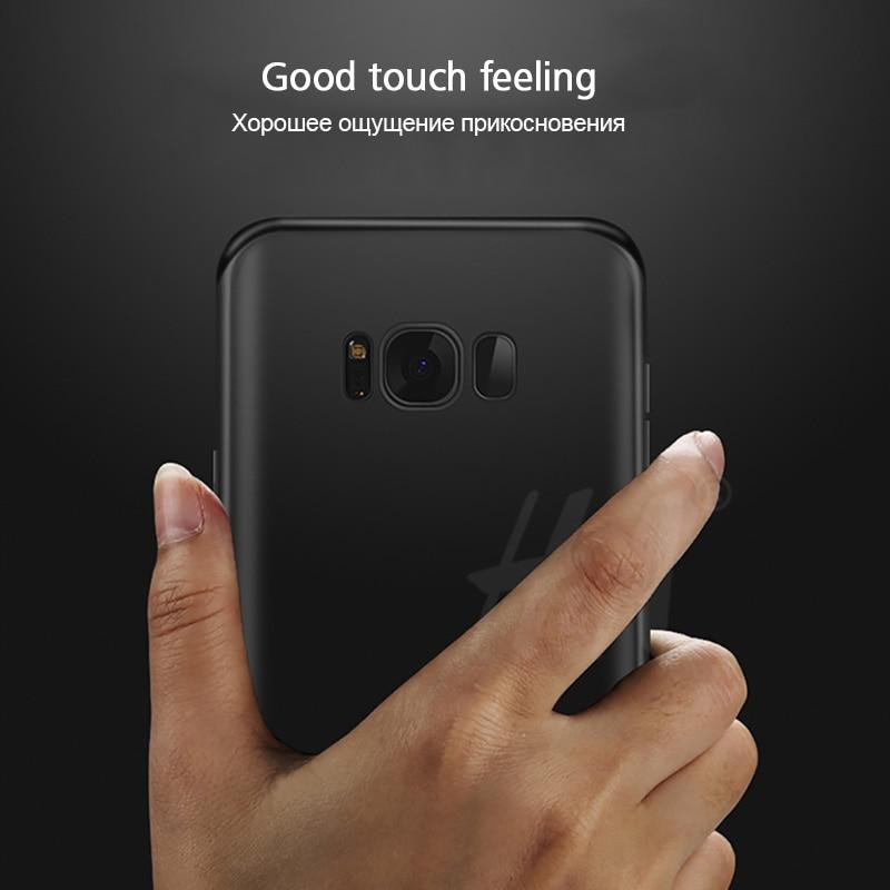 Ultra Thin Matte Soft Silicon TPU Cover Case for Samsung Galaxy J1 J3 J5 J7 A3 A5 A7 2015 2016 2017 S5 S6 S7 Edge S8 Plus Cases