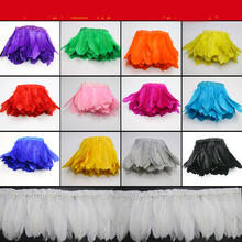 2m/lot 13 color diy feathers Large floating feather strips/lace/cloth edge Feather skirt Wedding dress accessories AC057