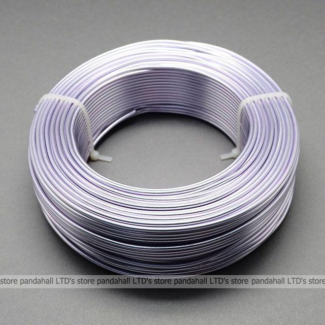 Алюминиевой Проволоки для Ювелирных Изделий Создание DIY, лаванды, 2 мм в диаметре, около 50 м/рулон