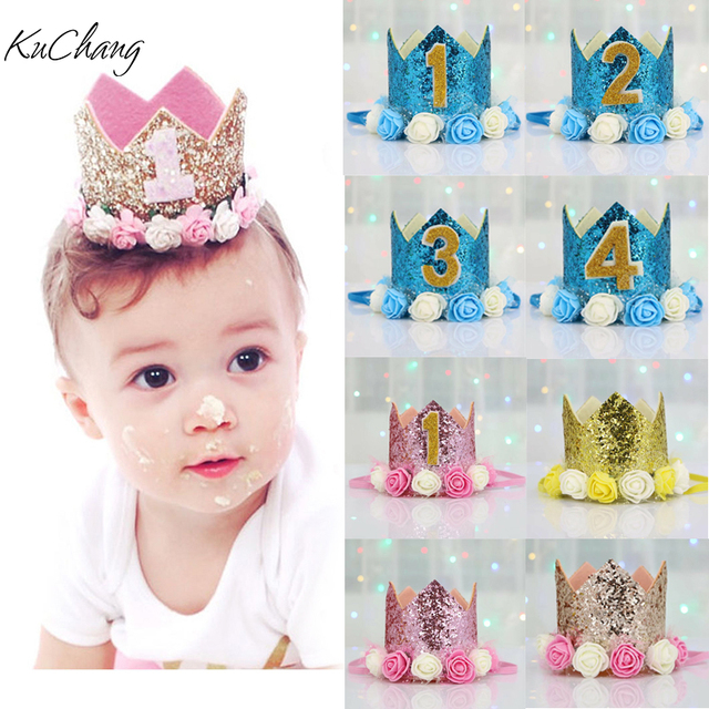 happy first birthday party hats decor cap one birthday hat princess