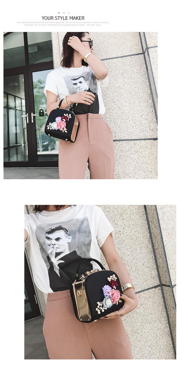 Women bag box Bag National style flowers embossed lock single shoulder bag handbags bags for women 2018 9