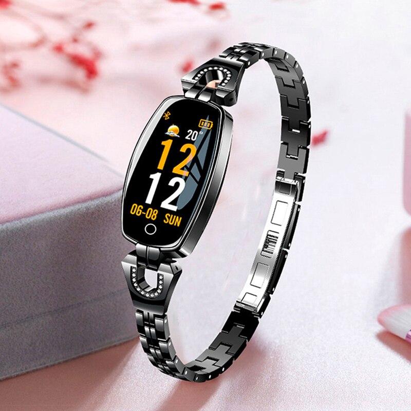 Bracelet Montre Smart Watch Femmes Dames Marque De Luxe Petit Cadran Montre-Bracelet Électronique LED Numérique Sport Poignet Montres Pour Femme Horloge