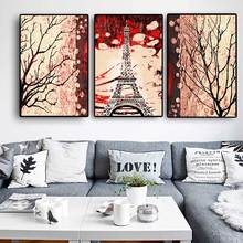 3 Panels Tower Landscape Canvas Painting Wall Art Prints Pictures for Living Room Decoration no frame