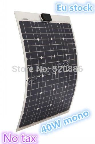DE stock, no tax, 40W 18v mono semi-flexible pv solar panel, for boat RV,free shipping