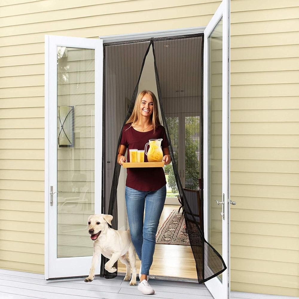 Reinforced Magnetic Screen Door, Anti Mosquito Door Curtain Fits Doors Up To 39 X 82-Inch