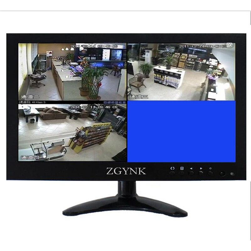 Écran large 12.1 pouces à quatre écrans HD IPS LCD VGA BNC1 BNC2 BNC3 BNC4 moniteur d'interface