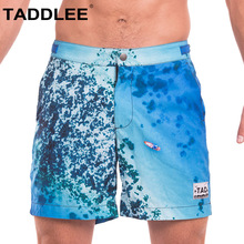 Taddlee Brand Sexy Mens Swimwear Swimsuits Man Plus Big Size XXL Beach Long Board Shorts Boxer Trunks Men Bermuda Bottoms New