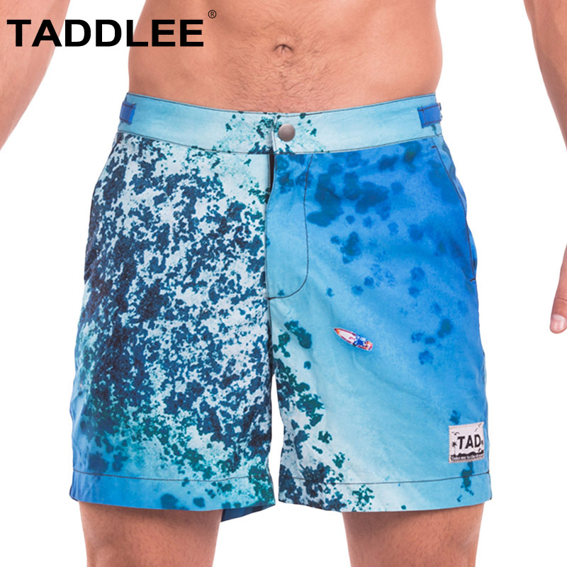 Taddlee Brand Sexy Men's Swimwear Swimsuits Man Plus Big Size XXL Beach Long   Board     Shorts   Boxer Trunks Men Bermuda Bottoms New
