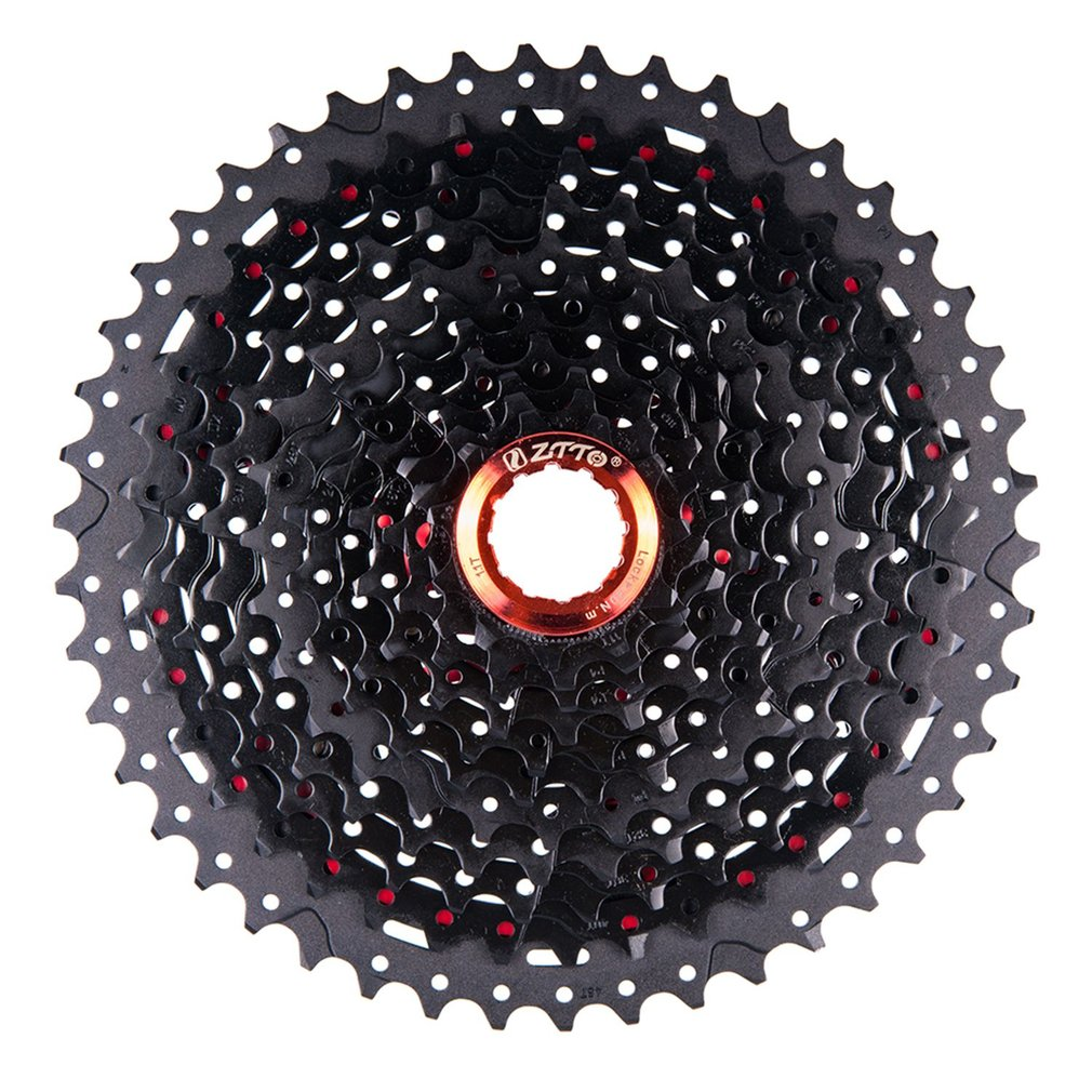 ZTTO 11 Speed Cassette 11-46T Compatible Road Bike  Sram System High Tensile Steel Sprockets Folding Black Red GearZTTO 11 Speed Cassette 11-46T Compatible Road Bike  Sram System High Tensile Steel Sprockets Folding Black Red Gear