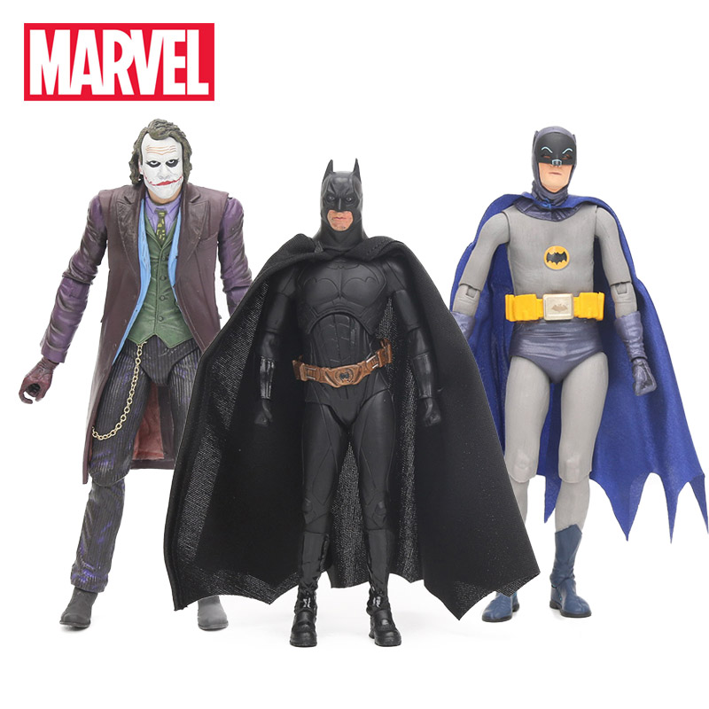 17cm Marvel Toys Superhero Comic Batman Superman The Joker Pvc Action Figure Moveable Neca Tv Series Collectible Model Doll Toys