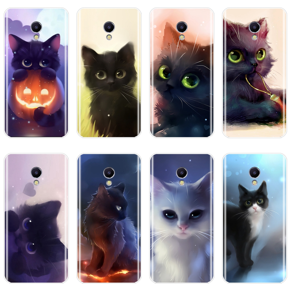 Cute Cat Cartoon Phone Case For <font><b>Meizu</b></font> M6 M5 M3 M2 Note Silicone Soft <font><b>Back</b></font> <font><b>Cover</b></font> For <font><b>Meizu</b></font> M6 M6S M6T M5 M5C M5S M3 <font><b>M3S</b></font> M2 Case image