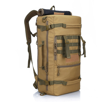 Cycling Men's Military Tactical Backpack Camping Mountaineering Backpack Men's Hiking Rucksack Travel Backpack 50L Bag