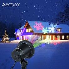 RGBW copo de nieve proyector de escenario Navidad lámpara LED para jardín 4 colores 85-265V IP65 exterior césped jardín paisaje decoración de Navidad iluminación