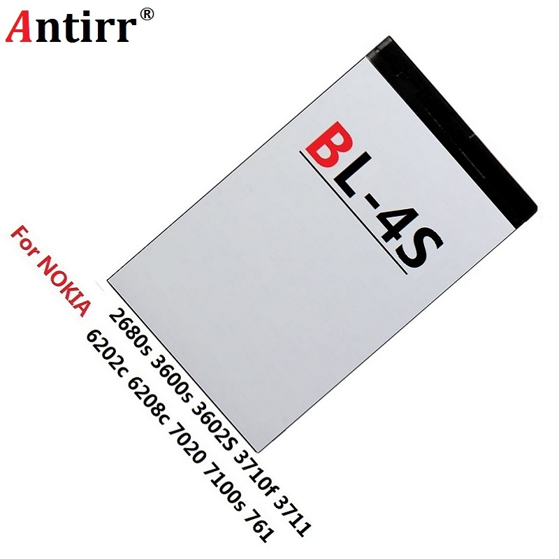 Mobile Phone Battery 860mAh BL-4S BL 4S For7100S <font><b>3600S</b></font> 7610S X3-02 6208C 2680S Rechargeable Lithium Battery image