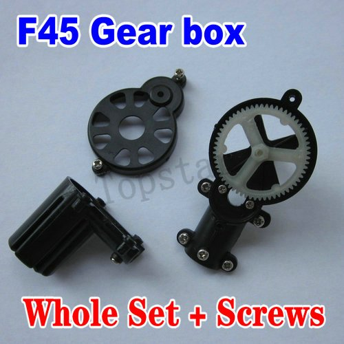 цены  MJX RC helicopter model spare parts accessories F645 F-45 F45 Tail motor gear box with screws (whole set)