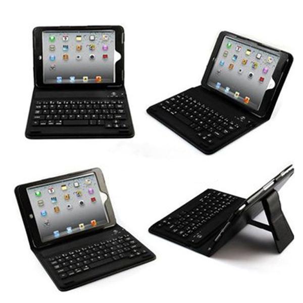 Wireless Bluetooth Leather Waterproof Keyboard Case Cover for iPad Mini