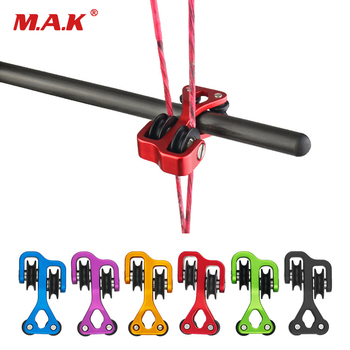 6 farben Bogenschießen Verbindung Bogen Kabel Rutsche String Splitter Roller Glide Ersatz Bogen String Separator Bogen und Pfeil Pulley