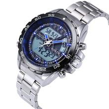 NORTE de Pantalla Dual A Estrenar Impermeable Reloj Deportivo de Acero Lleno Hombres Reloj Militar LED Relojes Horas relogio masculino reloj hombre
