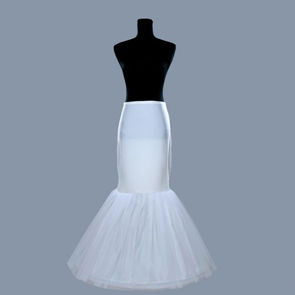 Buy one hoop mermaid tulle bridal wedding for Tulle petticoat for wedding dress