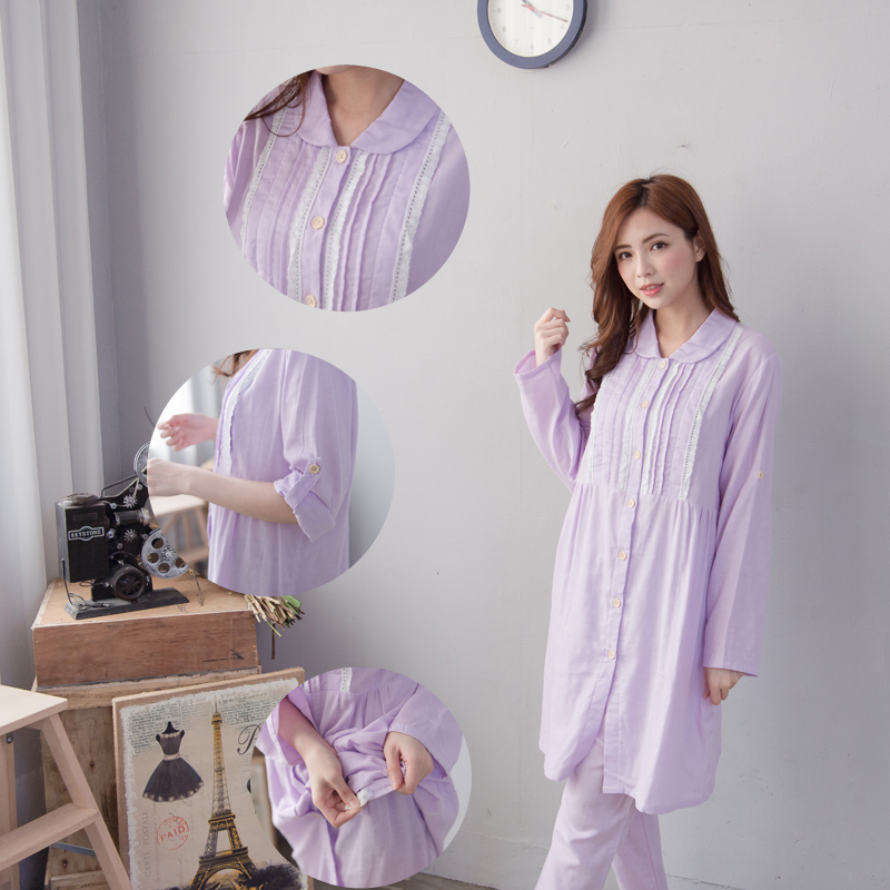 Maternity Nursing Pajamas set Spring Long Sleeves Cotton Breastfeeding and Nursing Pajama