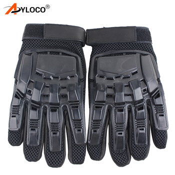 Mens Leather Driving Gloves Tactical Gloves Military Armed Paintball Airsoft Outdoor Sports Fitness Gloves Full Finger Guantes 1