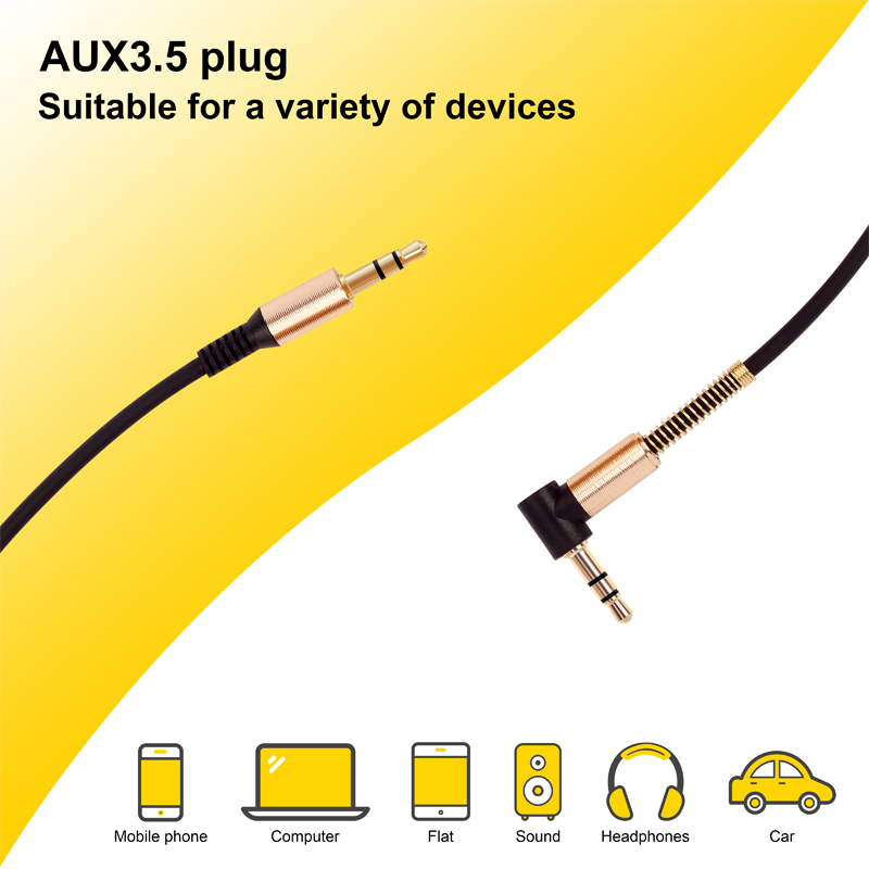 Aux Cable 3.5mm Audio Cable 3.5mm Jack Speaker Cable Male to Male Car Aux Cord for JBL Headphone iphone Samsung AUX Cord 4