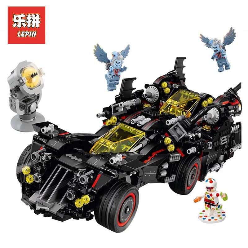 Lepin 07077 Genuine Batman Movie Series Ultimate Batmobile Educational toys for boys Model Building Blocks Bricks LegoINGy 70917 8 in 1 military ship building blocks toys for boys