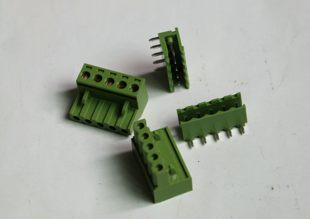 20set KF2EDG Push-pull Terminal Block Wire plug Connector Pitch 5.08mm Five / 5 Pins 90 Degree Screw Female + male Green color