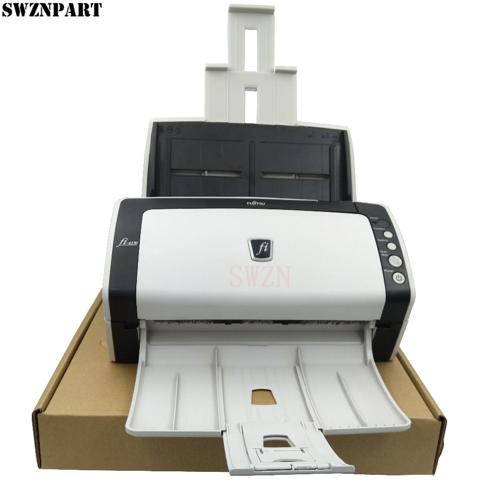 Document Scanner Fujitsu Fi-6130 Fi 6130 FI6130 USB Color 2-sided Duplex Scanner PA03540-B055 Complete